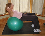 Finis position for this ab exercise with exercise ball