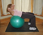 Finish position for this ab exercise with exercise ball