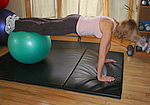 Jackknife crunch abdominal exercise