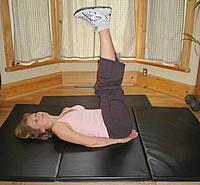 Straight leg-raise abs exercises 3.